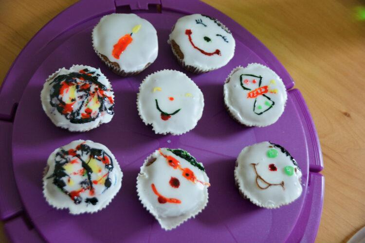 Selbstgebackene Muffins Geburtstag
