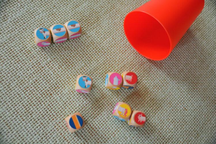 Kinderspiel Würfelspiel