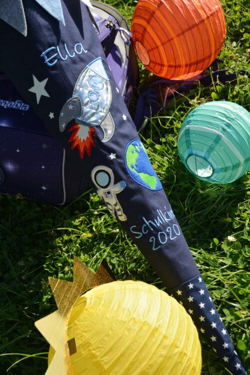 Weltraum Schultüte handmade
