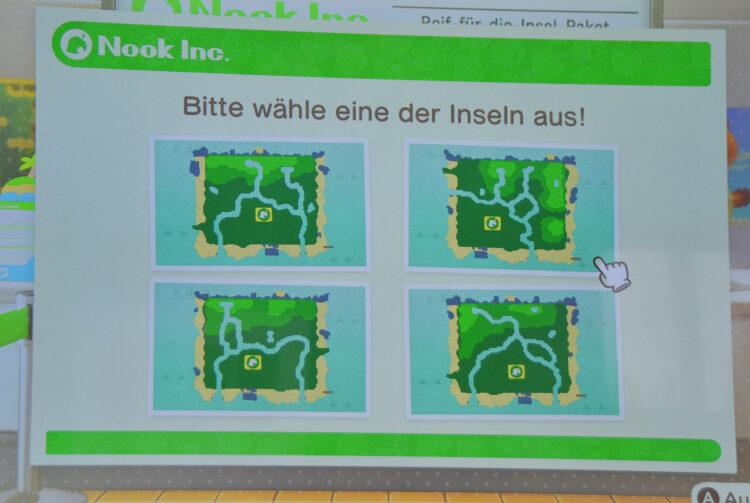 Animal Crossing Insel auswählen
