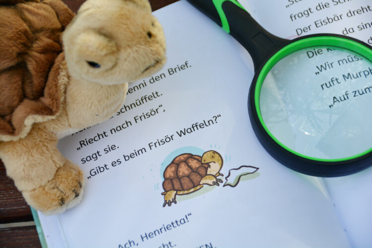 Schildkröte Henriette hat einen Hinweis