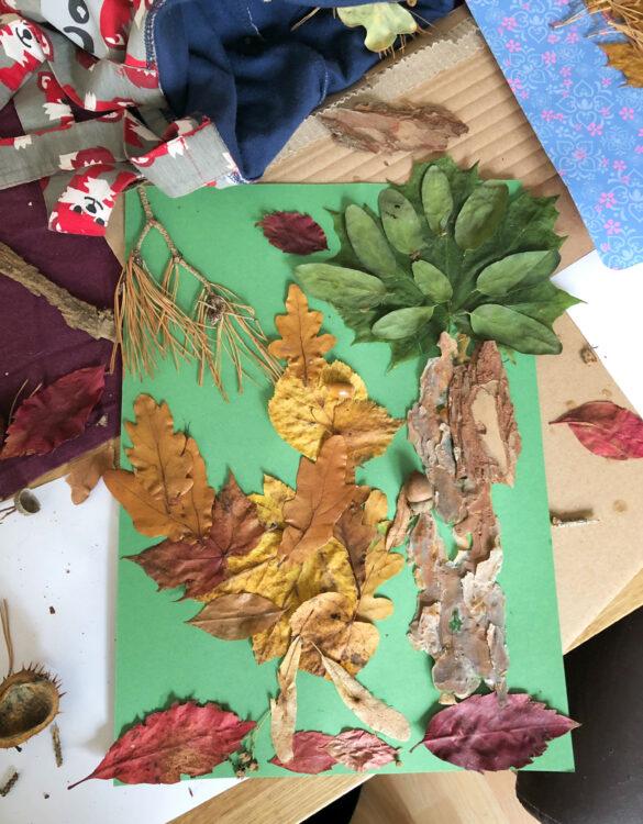 Herbstferien mit Herbstbastelei