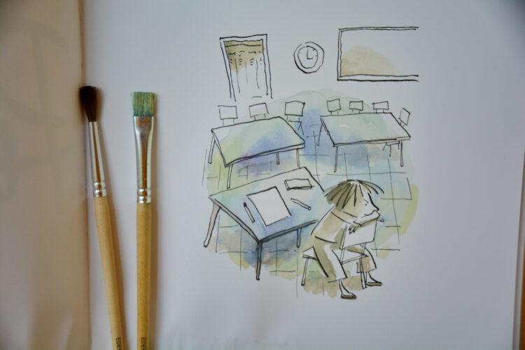 Kunstunterricht Kinder malen