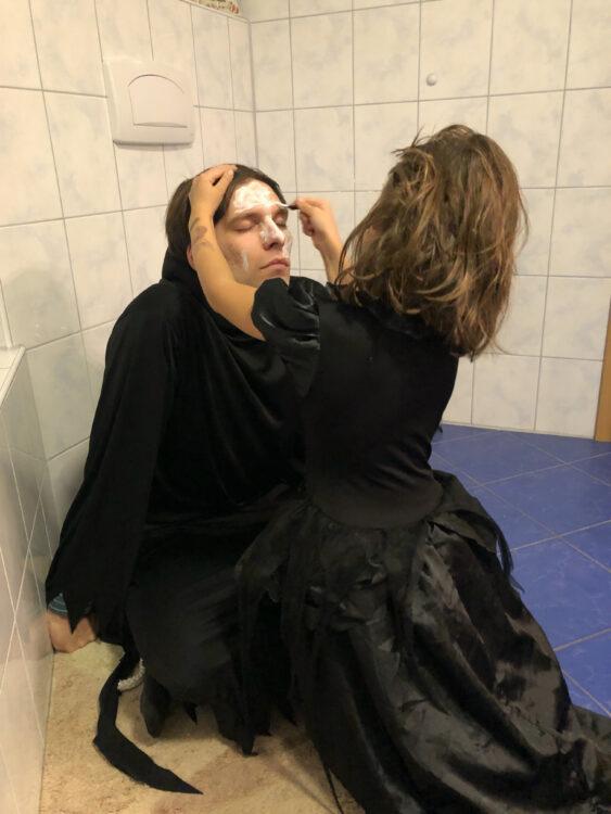 Halloween schminken Kinder