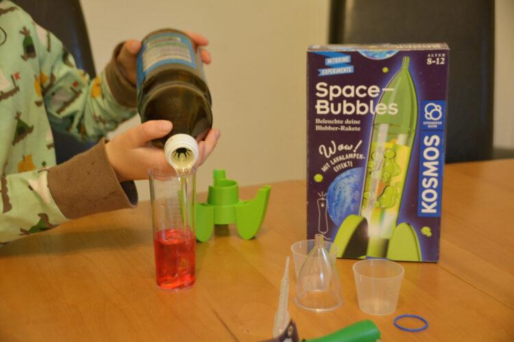 Experimente Öl Magnesiumtablette