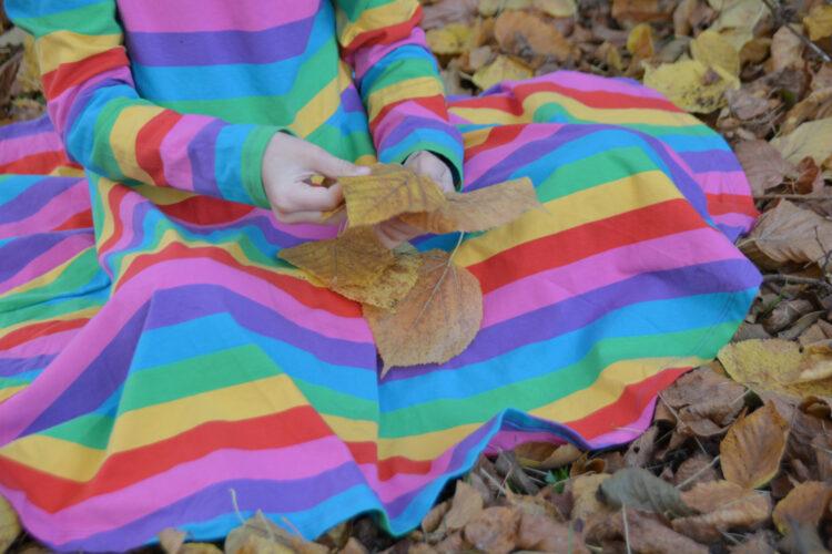 Langarmkleid bunt Regenbogen Frugi