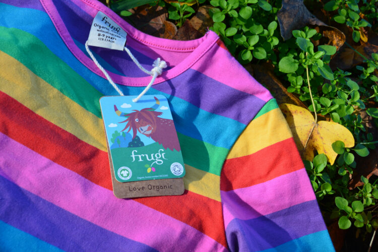 Frugi Sofia Skater Dress Drehkleid Rainbow Regenbogen