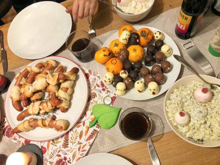 Halloween zu Hause Buffet