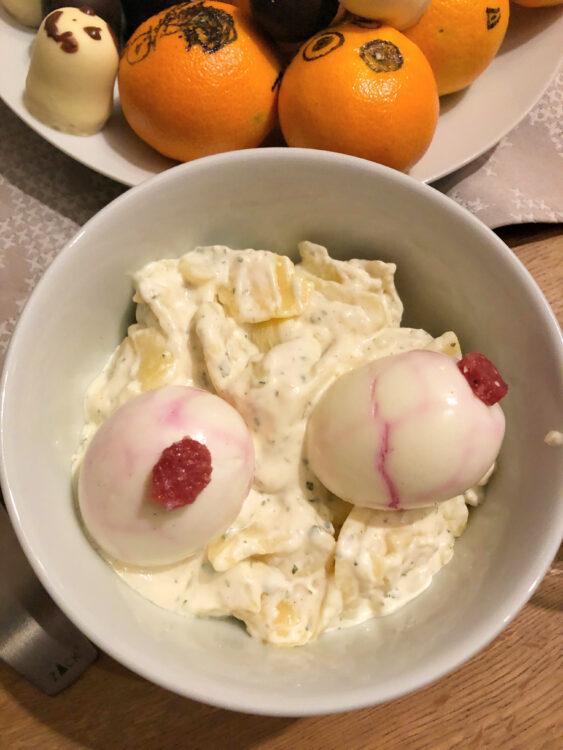 Kartoffelsalat mit Eier-Augen