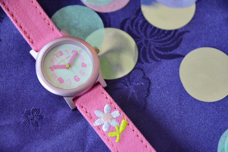 Kinder Armbanduhr mit Bio-Baumwolle