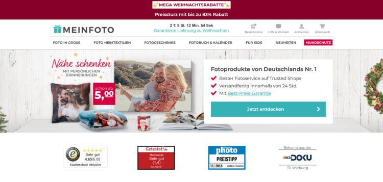 MEINFOTO Fotoprodukte Fotoleinwand
