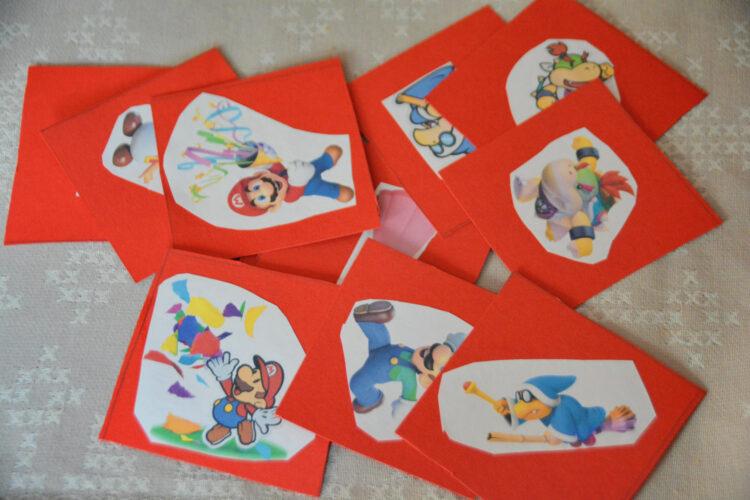 Mario Paper Memory gebastelt