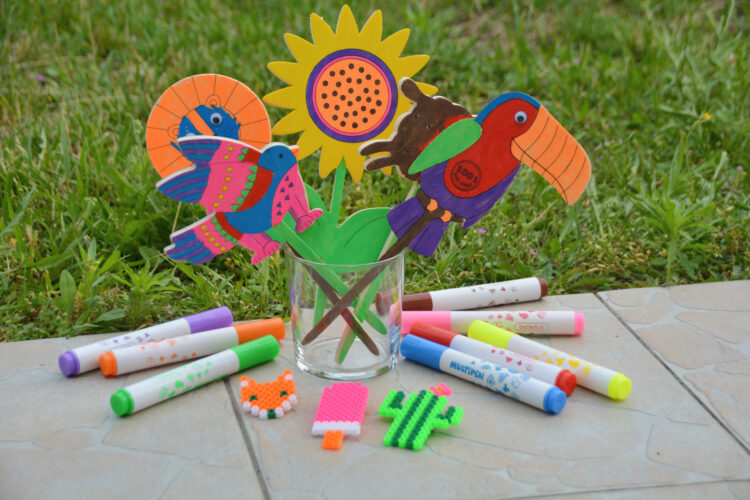 Kreative Kinder basteln malen