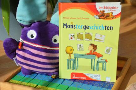 Der Bücherbär mit Silbentrennung: Monstergeschichten + Verlosung