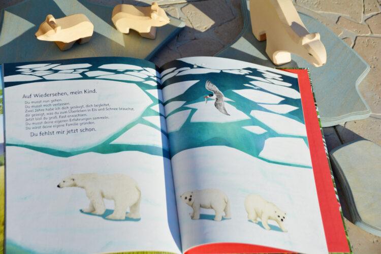 Elternliebe Eisbärenmama Eisbärenkinder
