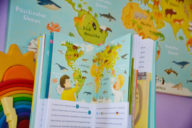 Weltkarte für Kinder Constanze von Kitzing