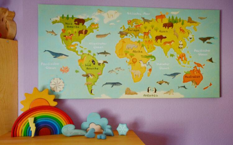 Constanze von Kitzing Weltkarte