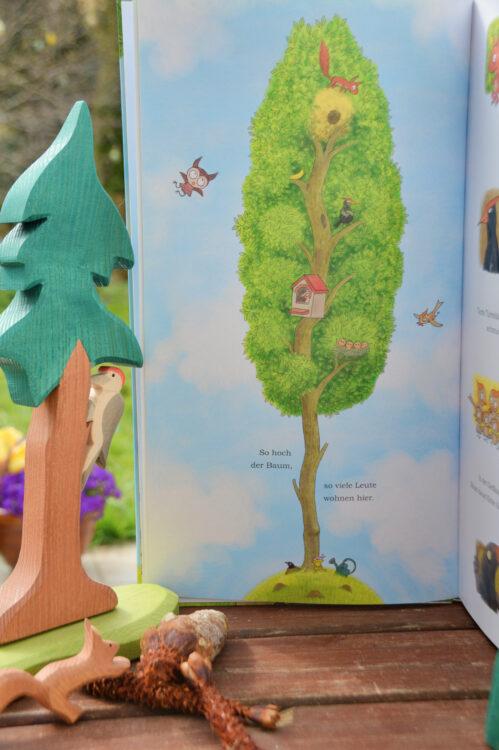 So hoch der Baum Baumbewohner