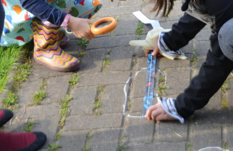 Fußspuren sichern ausmessen