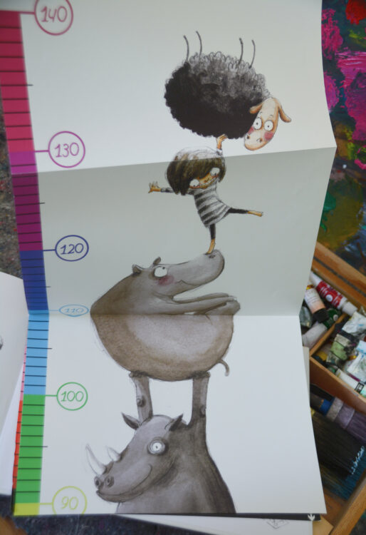 Poster-Messlatte Kinder Rocio Bonilla