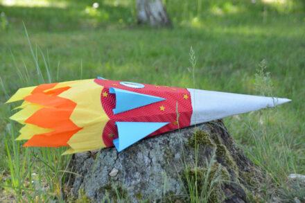 Eine Raketen-Zuckertüte für Astronautin Ella zum Zuckertütenfest